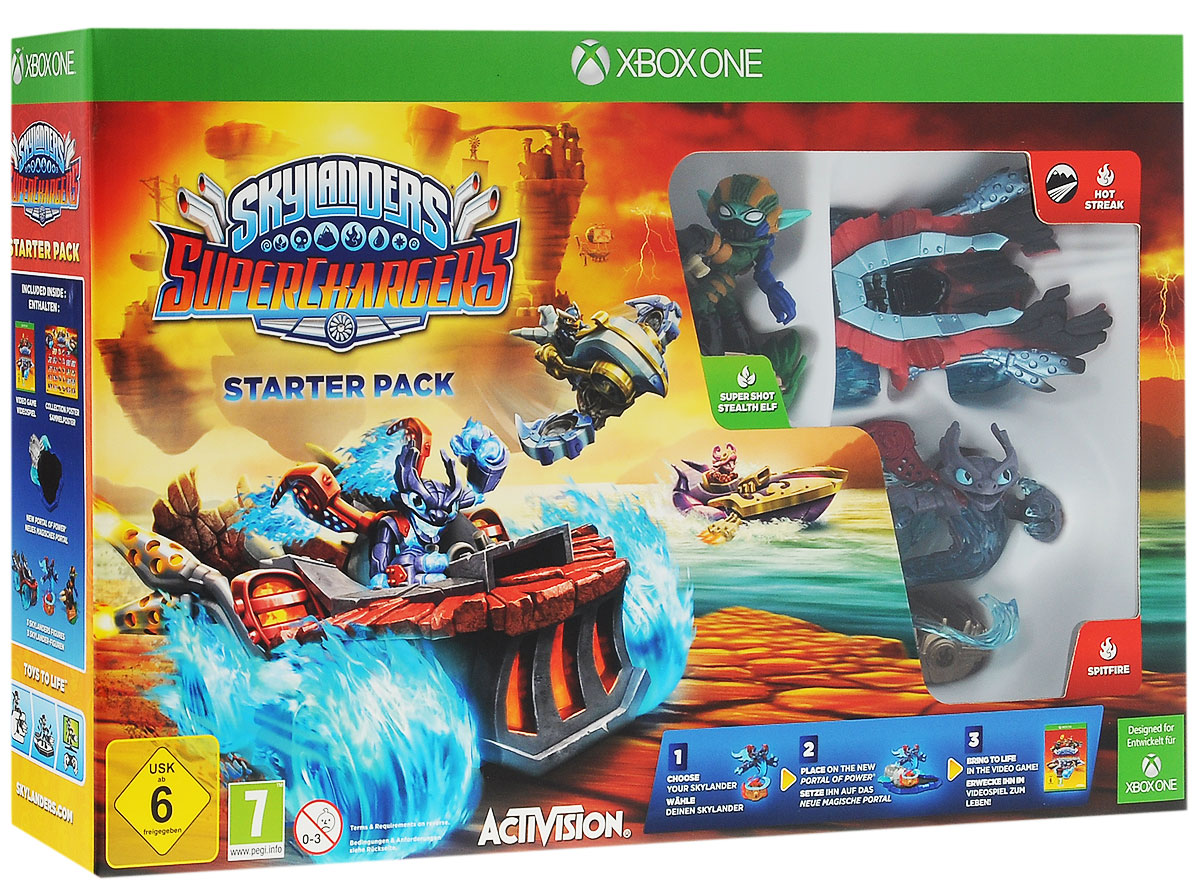 Skylanders SuperChargers. Стартовый набор (Xbox One) kester dodgson l grammar trainer 3 photocopiable resource book elementary pre intermediate a2 b1