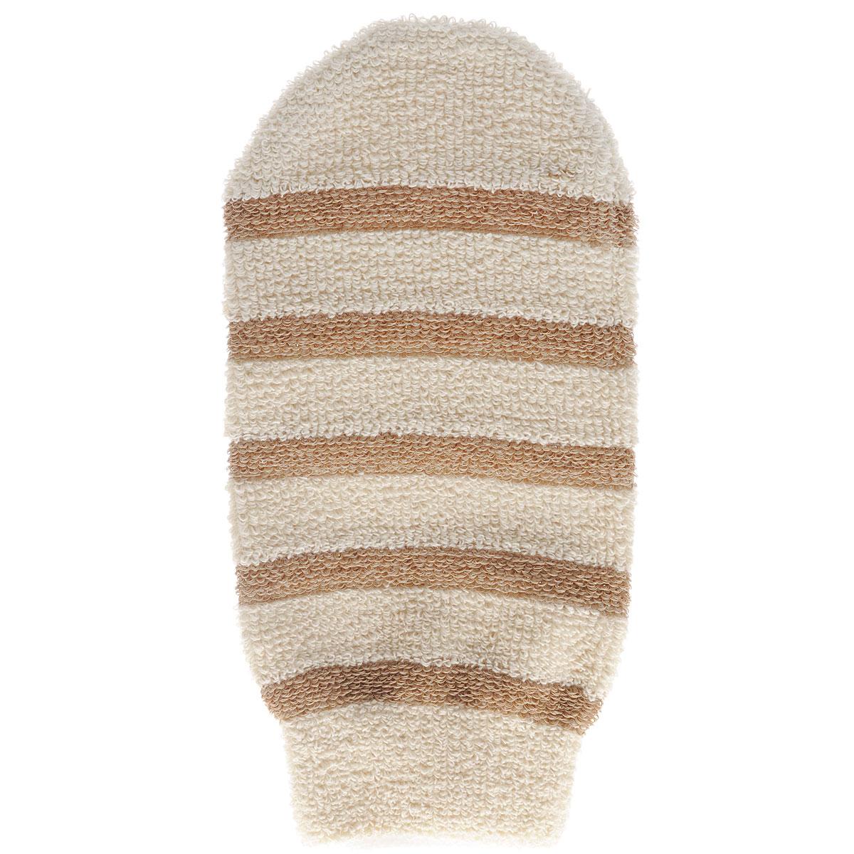 Мочалка-рукавица Riffi, с массажными полосками, цвет: бежевый406_бежевыйМочалка-рукавица Riffi применяется для мытья тела, благодаря массажным полоскам обладает активным пилинговым действием, тонизируя, массируя и эффективно очищая вашу кожу. Интенсивный и пощипывающий свежий массаж тела с применением мочалки Riffi усиливает кровообращение, активирует кровоснабжение и улучшает общее самочувствие. Благодаря отшелушивающему эффекту, кожа освобождается от отмерших клеток, становится гладкой, упругой и свежей. Мочалка-рукавица Riffi приносит приятное расслабление всему организму. Борется с болями и спазмами в мышцах, а также эффективно предупреждает образование целлюлита.Состав: 85% хлопок, 15% полиэтилен.Товар сертифицирован.