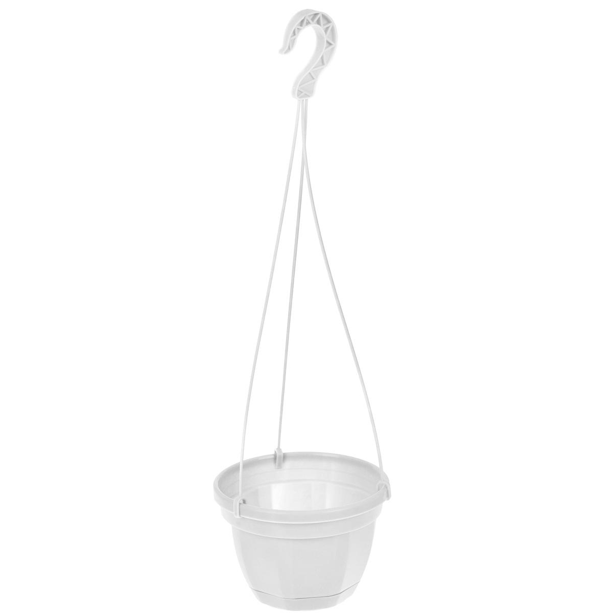 Кашпо на подвесе Инстар Ника, с поддоном, цвет: белый, диаметр 17 смст071бел.Кашпо на подвесе Инстар Ника изготовлено из прочного пластика. Снабжено поддоном для стока воды. Изделие прекрасно подходит для выращивания рассады, растений и цветов в домашних условиях. Специальный подвес для крепления к стене. Стильный лаконичный дизайн впишется в интерьер любого помещения. Диаметр кашпо (по верхнему краю): 17 см. Высота кашпо: 12 см. Высота кашпо (с подвесом): 51 см.