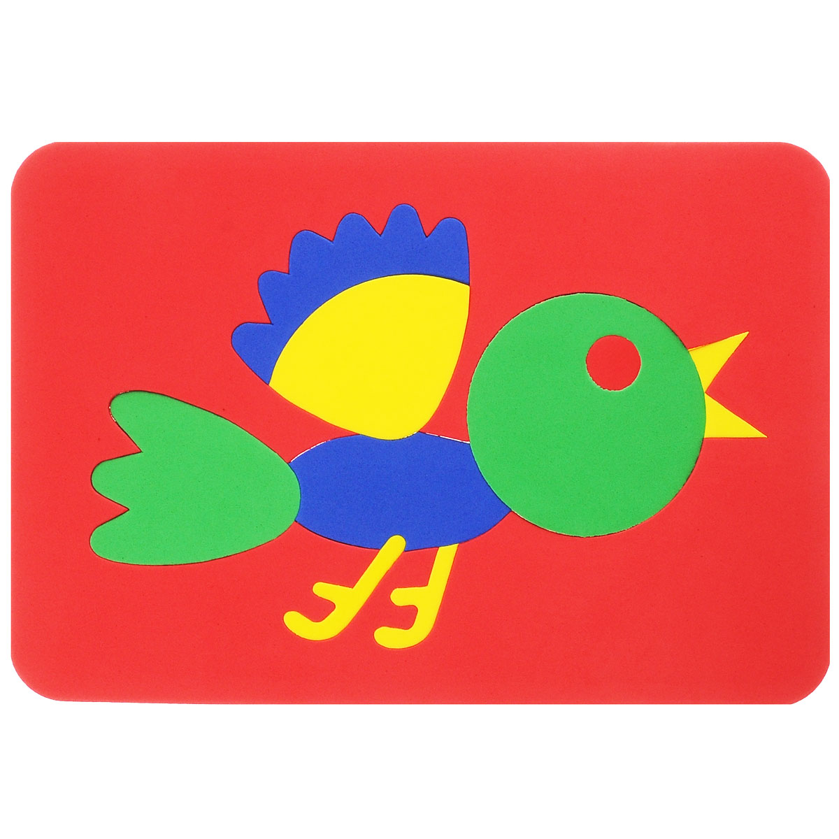 Мягкая мозаика Птичка, 11 элементов, цвет основы: красный август мягкая мозаика дерево цвет основы синий