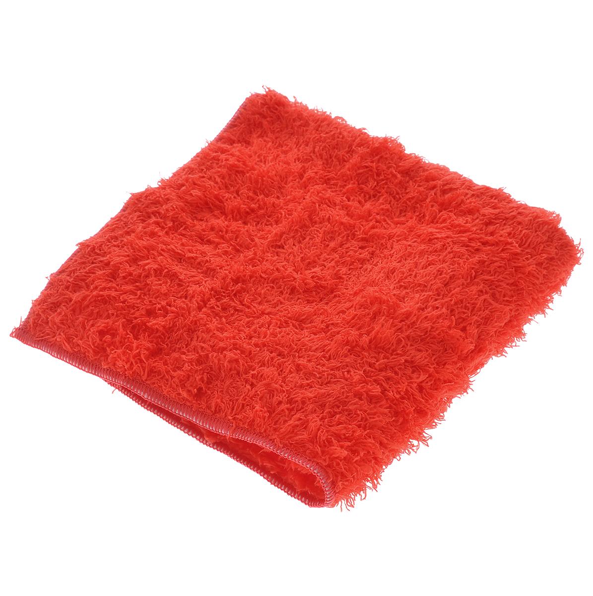 Салфетка чистящая Sapfire, для мытья и полировки автомобиля, цвет: красный, 40 см х 40 смSFM-3022_красныйБлагодаря своей уникальной ворсовой структуре, салфетка Sapfire прекрасно подходит для мытья и полировки автомобиля.Материал салфетки (микрофибра) обладает уникальной способностью быстро впитывать большой объем жидкости. Клиновидные микроскопические волокна захватывают и легко удерживают частички пыли, жировой и никотиновый налет, микроорганизмы, в том числе болезнетворные и вызывающие аллергию. Салфетка великолепно удаляет пыль и грязь. Протертая поверхность становится идеально чистой, сухой, блестящей, без разводов и ворсинок.Размер салфетки: 40 см х 40 см.