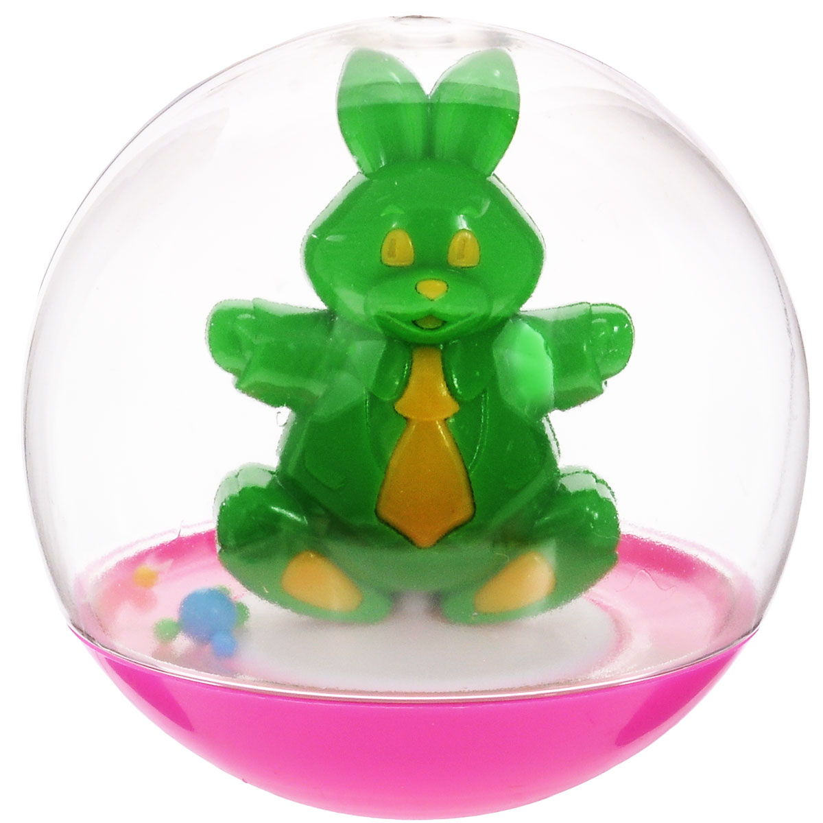 "Stellar Погремушка-неваляшка ""Заяц"", 10 см, цвет: зеленый"