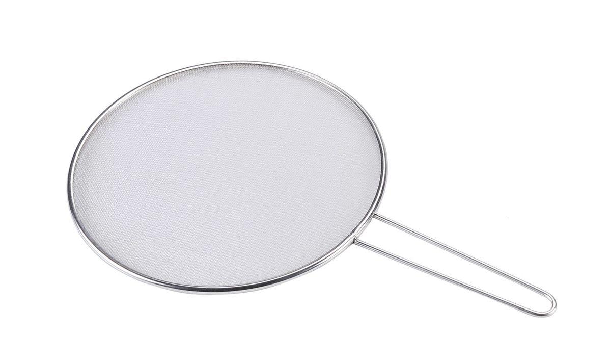 """Сетка """"Bekker"""" выполнена из нержавеющей стали. Достаточно положить сетку на сковороду и можно не беспокоиться о чистоте вашей плиты. Сетка """"Bekker"""" станет незаменимым помощником на вашей кухне и понравится каждой хозяйке.  Диаметр: 29 см."""