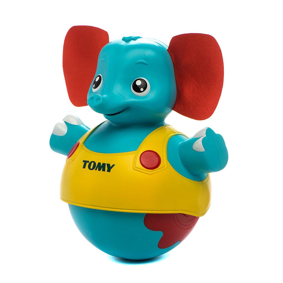 Tomy Развивающая игрушка Слоник учится ходить, озвученная игрушки интерактивные tomy интерактивная игрушка слоник учится ходить