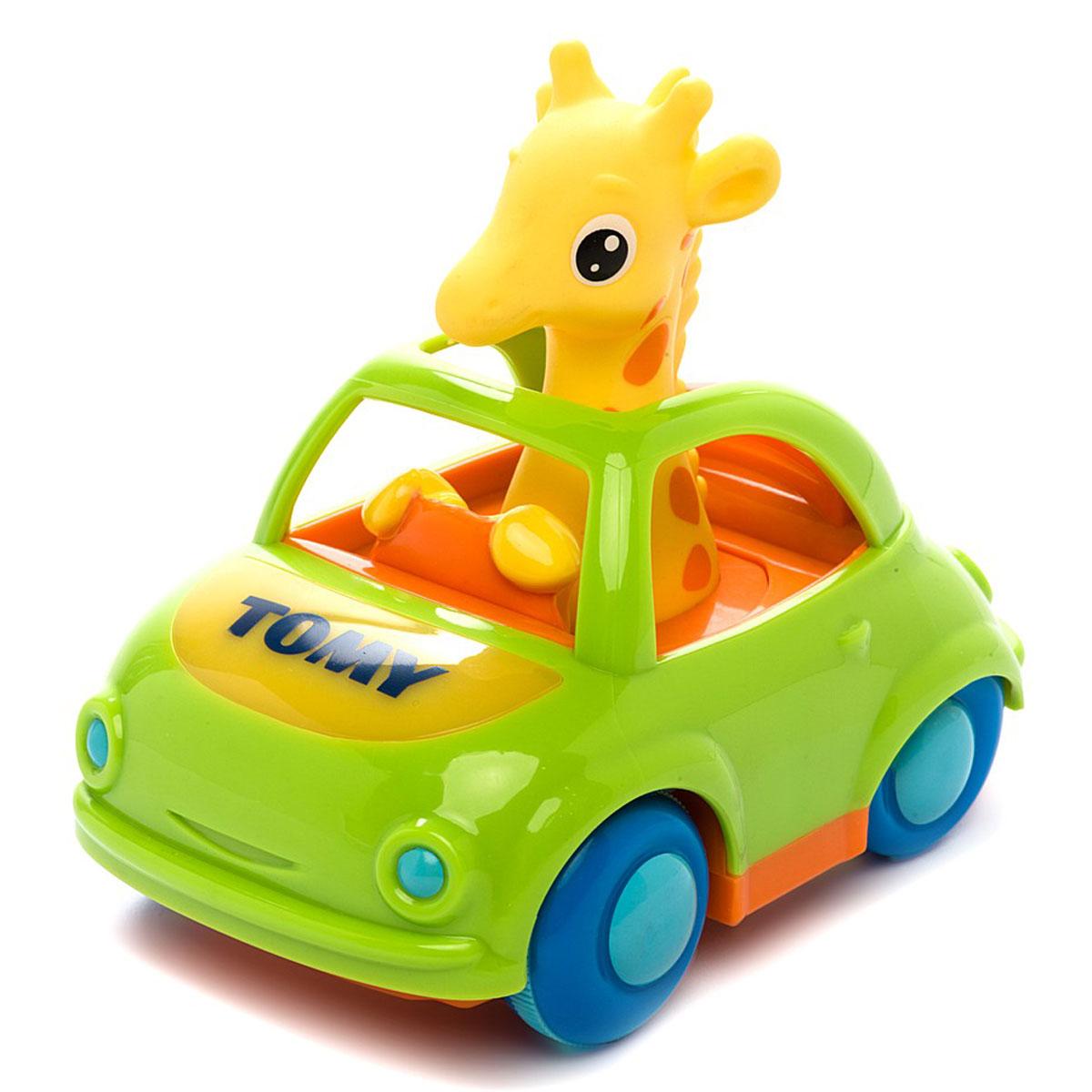 Tomy Развивающая игрушка Веселый Жираф-водитель, со звуковыми и световыми эффектами tomy электронная машинка со светом и звуком веселый жираф водитель