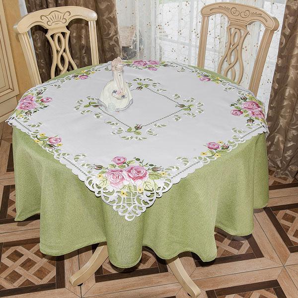 Скатерть Schaefer, квадратная, цвет: белый, 85 х 85 см. 07562-10007562-100Великолепная скатерть, выполненная из полиэстера, органично впишется в интерьер любого помещения, а оригинальный дизайн удовлетворит даже самый изысканный вкус. Скатерть создаст праздничное настроение и станет прекрасным дополнением интерьера гостиной, кухни или столовой.