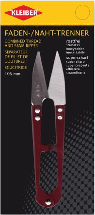 Ножницы для обрезания нитей Kleiber, цвет: красный, длина 10,5 см921-75Ножницы Kleiber выполнены из высококачественной нержавеющей стали и предназначены дляобрезки нитей, а также выполнения надсечек.Прочные, легкие, с остро заточенными лезвиями и кончиками ножницы станут незаменимыматрибутом каждой рукодельницы. Инструмент удобен в работе, долговечен. Обратите внимание,что одно лезвие немного смещено по отношение к другому. Благодаря чему, режущие кромкисходятся идеально, обеспечивая удобство в работе. Длина ножниц: 10,5 см. Длина лезвий: 3,4 см.