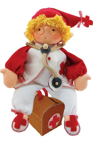"""Набор для шитья вальдорфской куклы """"Доктор Дэйв"""", высота 35см, De Witte Engel"""