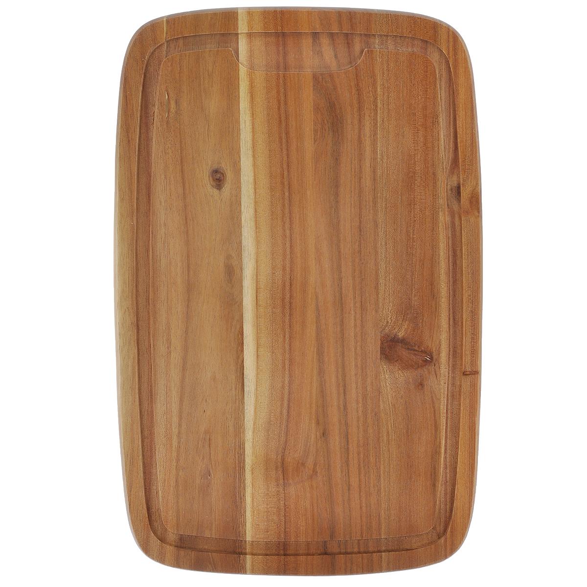 Доска разделочная Kesper, 40 х 26 см2017-1Разделочная доска Kesper изготовлена из высококачественного бамбука, обладающего антибактериальными свойствами. Бамбук - инновационный материал, идеально подходящий для разделочных досок. Доски из бамбука обладают высокой плотностью, а также устойчивы к механическим воздействиям. Наличие канавки по краю изделия поможет предотвратить вытекание сока от продуктов за пределы доски.Функциональные и простые в использовании, разделочные доски Kesper прекрасно впишутся в интерьер любой кухни и прослужат вам долгие годы.