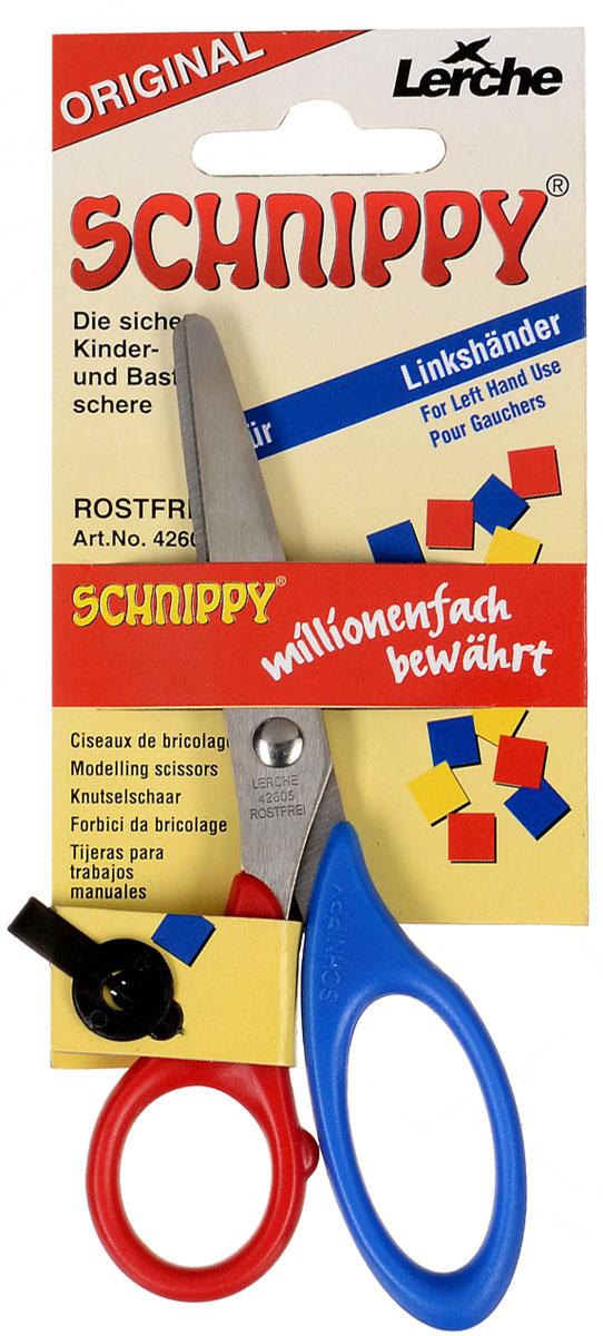Brunnen Ножницы для левшей, цвет: красный, синий, 13 см -  Канцелярские ножи и ножницы