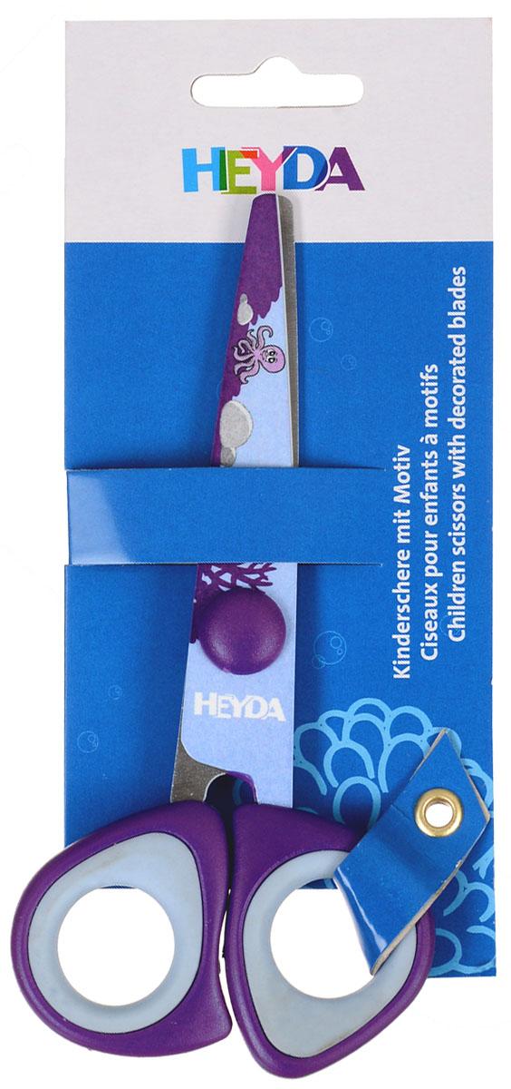 Heyda Ножницы детские, цвет: фиолетовый, 14 см48895-42\BCDДетские ножницы Heyda предназначены для детского творчества и художественно-оформительских работ.Лезвия выполнены из высококачественной нержавеющей стали. Облегченные пластиковые ручки с прорезиненными вставками адаптированы для детской руки. Ножницы имеют закругленный концы, что делает эксплуатацию безопасной.