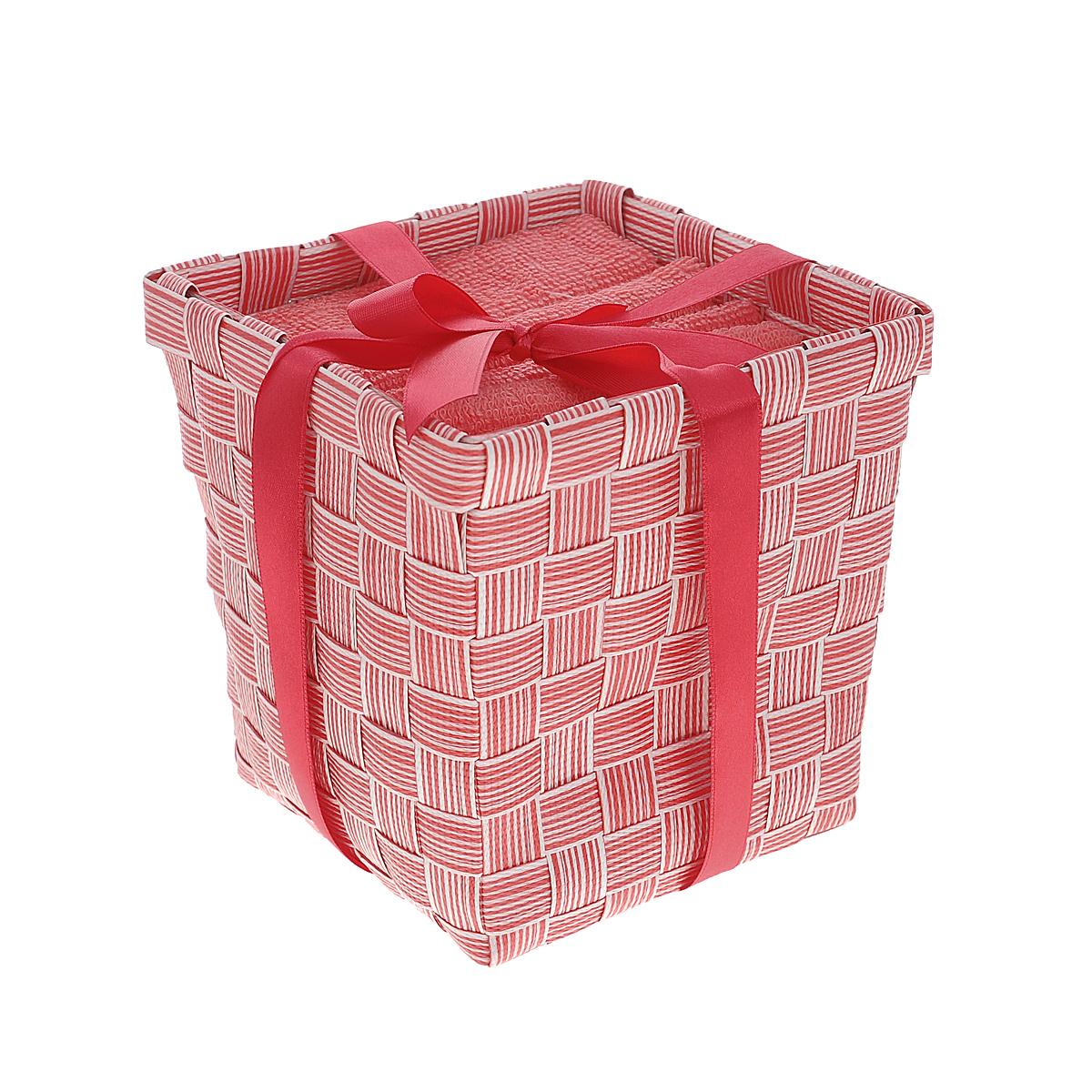 Набор полотенец Miolla, в корзине, цвет: коралловый, 30 см х 30 см, 6 штBTS1032CНабор Miolla состоит из шести квадратных полотенец, выполненных из хлопка. Полотенца мягкие, приятные на ощупь, хорошо впитывают влагу. Для хранения полотенец предусмотрена специальная плетеная корзинка, перевязанная атласной ленточкой. Такой набор станет хорошим подарком для хозяйки и пригодится в быту.