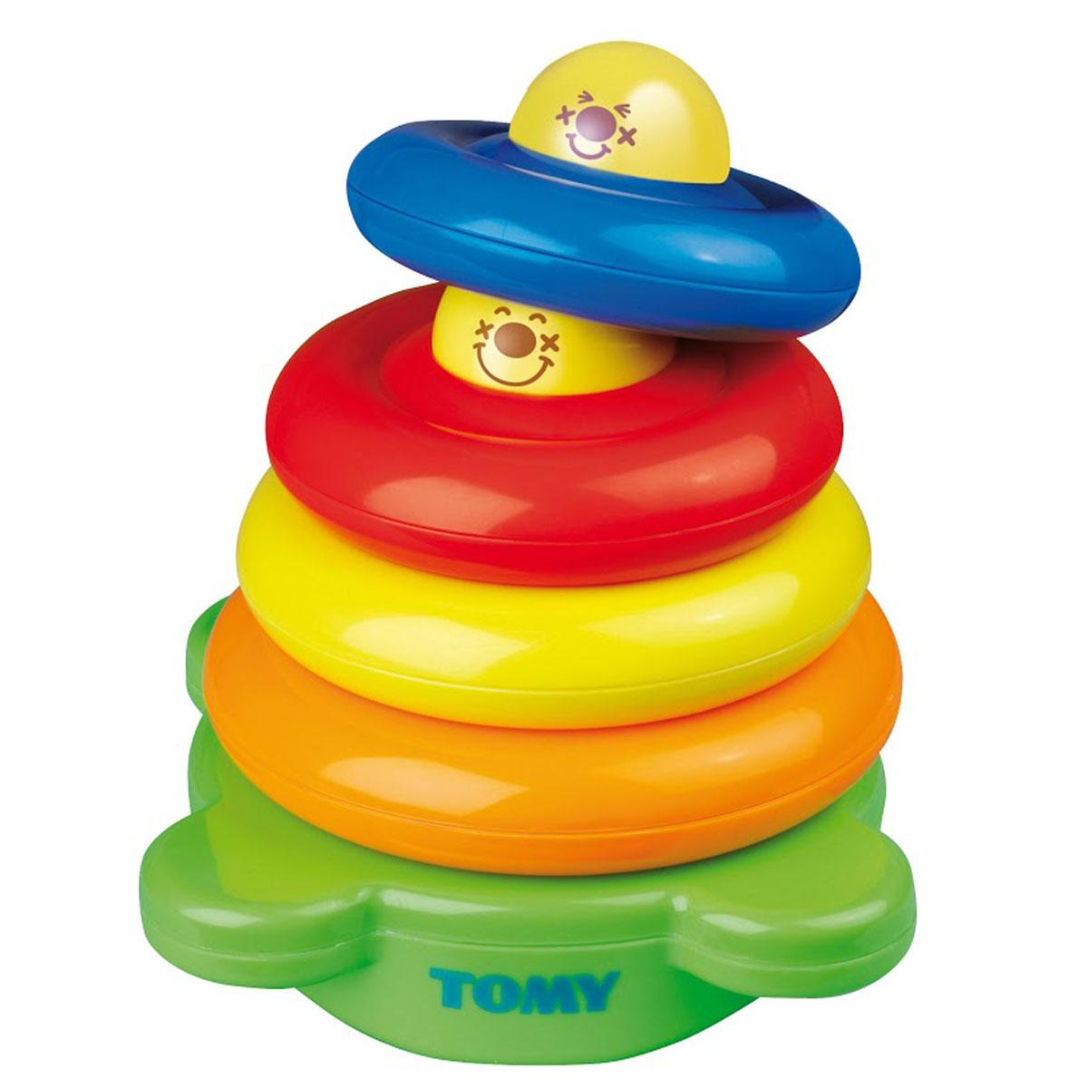 Tomy Развивающая игрушка-сортер Веселая Пирамидка купить веселый шарик tomy