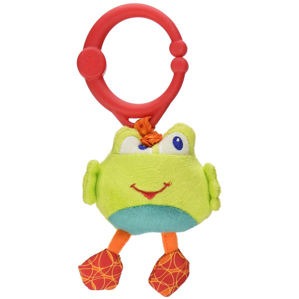 Bright Starts Мягкая развивающая игрушка-подвеска Дрожащий дружок: Лягушка игрушка подвеска bright starts развивающая игрушка щенок