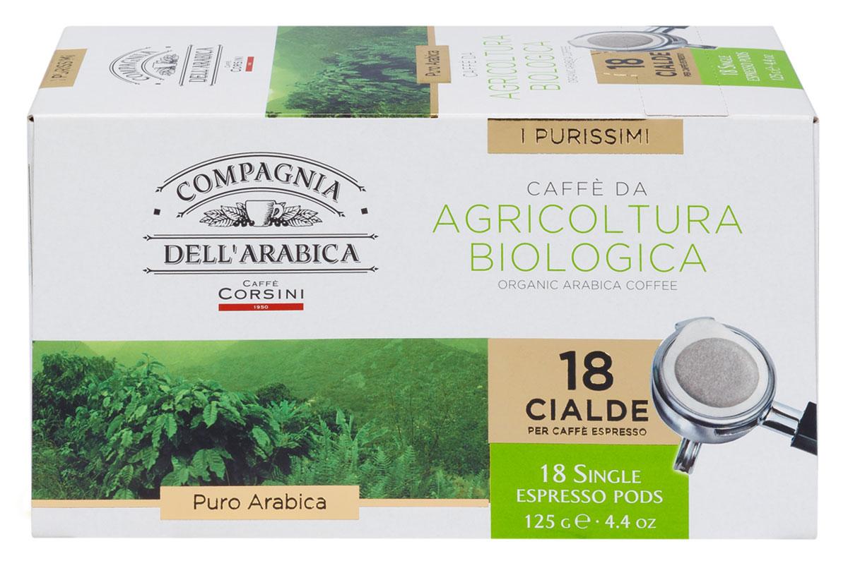 Compagnia DellArabica Caffe Puro Arabica Da Agricultura Biologica кофе в чалдах, 18 шт8001684010493Compagnia DellArabica Caffe Puro Arabica Da Agricultura Biologica - экологический чистый кофе, производство которого контролирует целый ряд учреждений международного класса. Выращен на лучших плантациях Северной Америки и Южной Африки. Вкус отличается легкими оттенками корицы и яблока, а также устойчивым послевкусием. Кофе для приготовления в чалдовых кофемашинах.