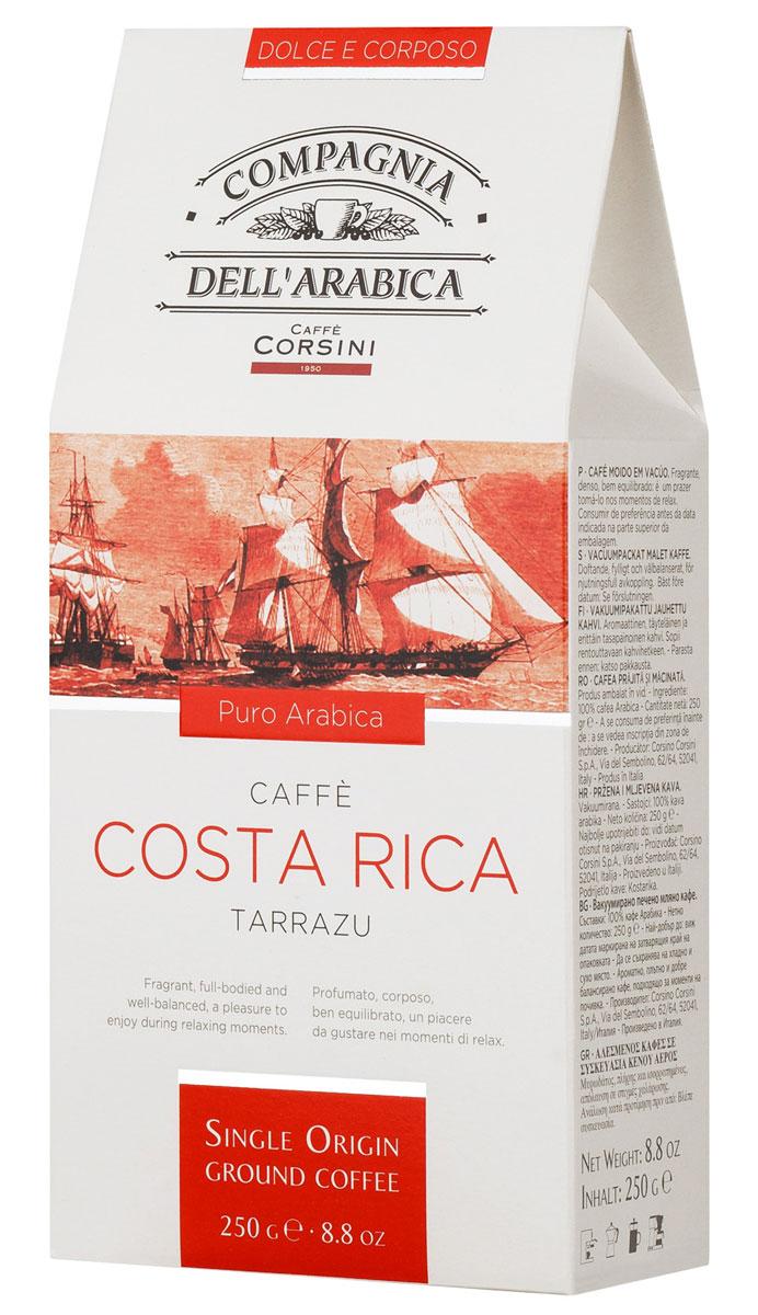 Compagnia Dell'Arabica Costa Rica молотый кофе, 250 г (вакуумная упаковка) costa rica home ss jersey