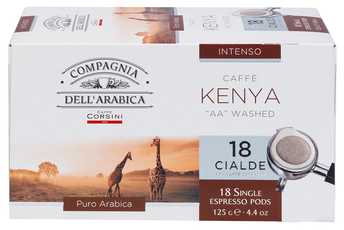 Compagnia DellArabica Kenya AA Washed кофе в чалдах, 18 шт8001684025749Compagnia DellArabica Kenya AA Washed - элитный высокогорный сорт 100% арабики, считающийся поистине взрослым кофе. Это крепкий кофе с ярко выраженной кислинкой, проникающей терпкостью, интенсивным привкусом и освежающим бодрящим действием. Для приготовления в чалдовых кофемашинах.