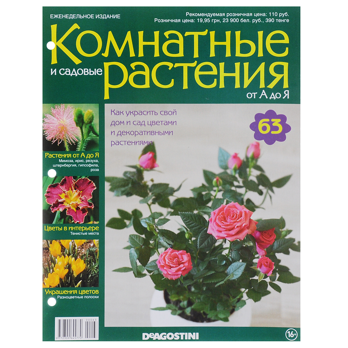 Журнал Комнатные и садовые растения. От А до Я №63 математика для дошкольников от а до я
