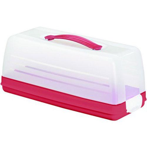 Емкость для торта Curver, цвет: прозрачный, красный, 33 х 15 х 14 см414_красный / красный / прозрачныйЕмкость для торта Curver изготовлена из высококачественного пищевого пластика.Изделие представляет собой прямоугольный поднос и прозрачную крышку, надежнозакрывающуюся на 2 защелки. Крышка убережет выпечку от насекомых, заветривания, влаги идругих воздействийвнешней среды. Емкость снабжена удобной ручкой для переноски. Можно мыть в посудомоечной машине.Размер крышки: 33 см х 14,5 см х 12 см.Размер подноса (без учета крышки): 33 см х 15 см х 4 см.