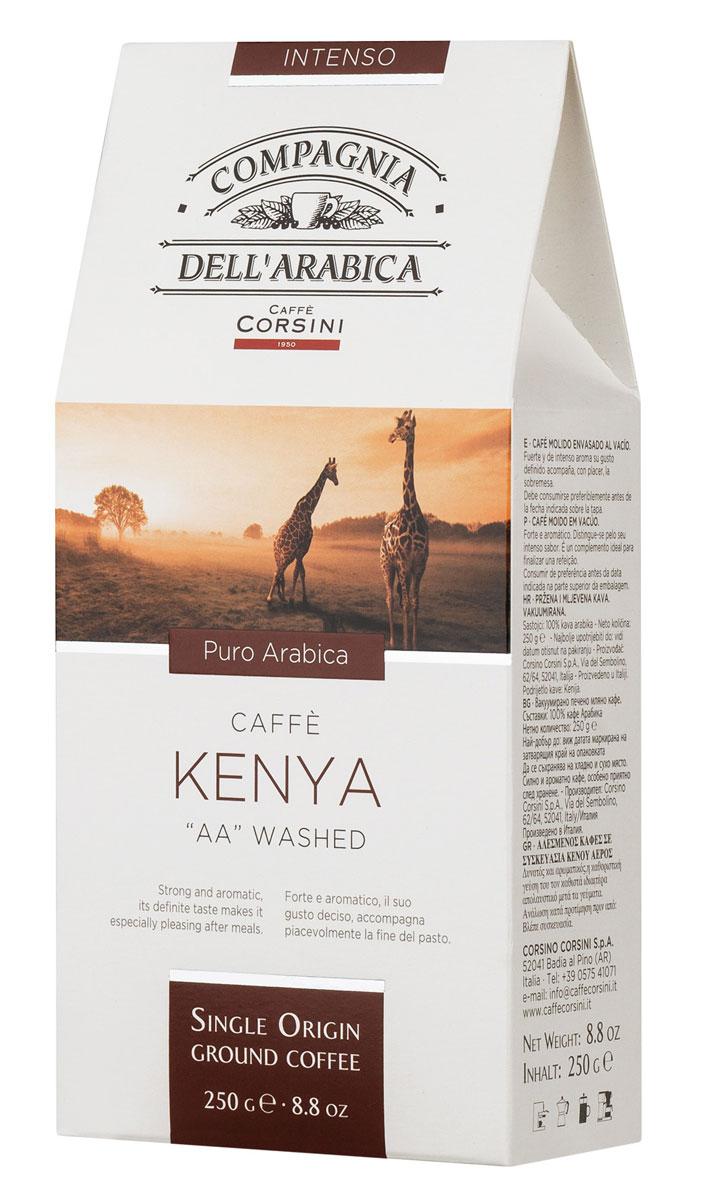 Compagnia DellArabica Kenya AA Washed молотый кофе, 250 г (вакуумная упаковка)8001684025602Compagnia DellArabica Kenya AA Washed - элитный высокогорный сорт 100% арабики, считающийся поистине взрослым кофе. Это напиток с ярко выраженной кислинкой, проникающей терпкостью, интенсивным привкусом и освежающим бодрящим действием.Чтобы насладиться неповторимым вкусом молотого кофе от Compagnia DellArabica, вы можете приготовить его любым известным вам способом, даже просто залив кипятком в чашке!