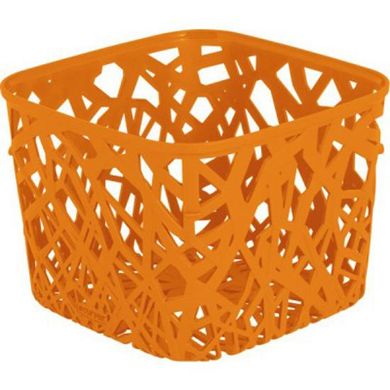 Корзинка Curver Ecolife, цвет: оранжевый, 19,2 см х 19,2 см х 14,4 см4160_оранжевыйКвадратная корзинка Curver Ecolife изготовлена из высококачественного пластика. Предназначена для хранения различных предметов в ванной, на кухне, на даче или в гараже. Стенки корзины оформлены изящной перфорацией, обеспечивающей естественную вентиляцию.