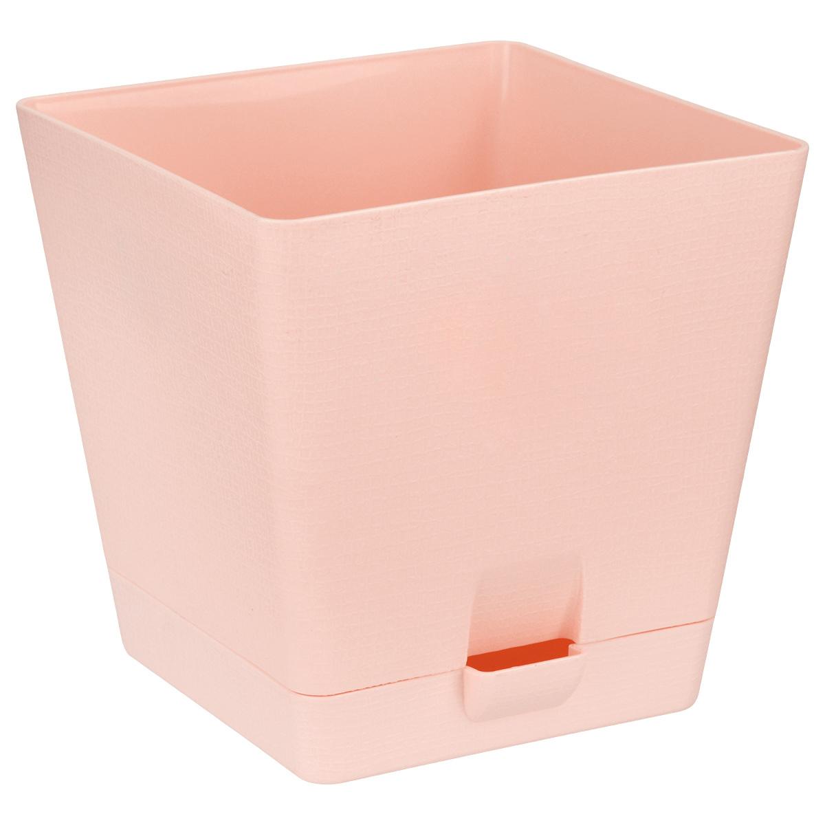 Горшок для цветов Le Parterre, с поддоном, цвет: розовый, 2 л211-3Любой, даже самый современный и продуманный интерьер будет не завершённым без растений. Они не только очищают воздух и насыщают его кислородом, но и заметно украшают окружающее пространство. Такому полезному &laquo члену семьи&raquoпросто необходимо красивое и функциональное кашпо, оригинальный горшок или необычная ваза! Мы предлагаем - Горшок для цветов с поддоном 2 л Le Parterre, d=15 см, квадратный, цвет розовый!Оптимальный выбор материала &mdash &nbsp пластмасса! Почему мы так считаем? Малый вес. С лёгкостью переносите горшки и кашпо с места на место, ставьте их на столики или полки, подвешивайте под потолок, не беспокоясь о нагрузке. Простота ухода. Пластиковые изделия не нуждаются в специальных условиях хранения. Их&nbsp легко чистить &mdashдостаточно просто сполоснуть тёплой водой. Никаких царапин. Пластиковые кашпо не царапают и не загрязняют поверхности, на которых стоят. Пластик дольше хранит влагу, а значит &mdashрастение реже нуждается в поливе. Пластмасса не пропускает воздух &mdashкорневой системе растения не грозят резкие перепады температур. Огромный выбор форм, декора и расцветок &mdashвы без труда подберёте что-то, что идеально впишется в уже существующий интерьер.Соблюдая нехитрые правила ухода, вы можете заметно продлить срок службы горшков, вазонов и кашпо из пластика: всегда учитывайте размер кроны и корневой системы растения (при разрастании большое растение способно повредить маленький горшок)берегите изделие от воздействия прямых солнечных лучей, чтобы кашпо и горшки не выцветалидержите кашпо и горшки из пластика подальше от нагревающихся поверхностей.Создавайте прекрасные цветочные композиции, выращивайте рассаду или необычные растения, а низкие цены позволят вам не ограничивать себя в выборе.