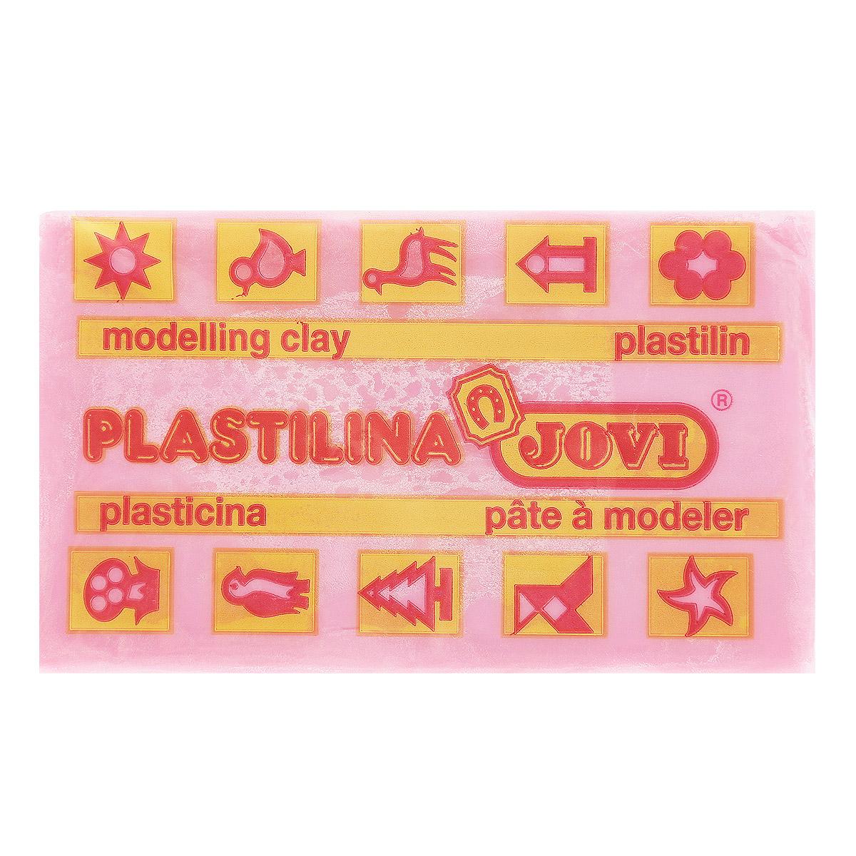 Jovi Пластилин, цвет: розовый, 50 г jovi набор мягкой пасты и аксессуаров для лепки огород