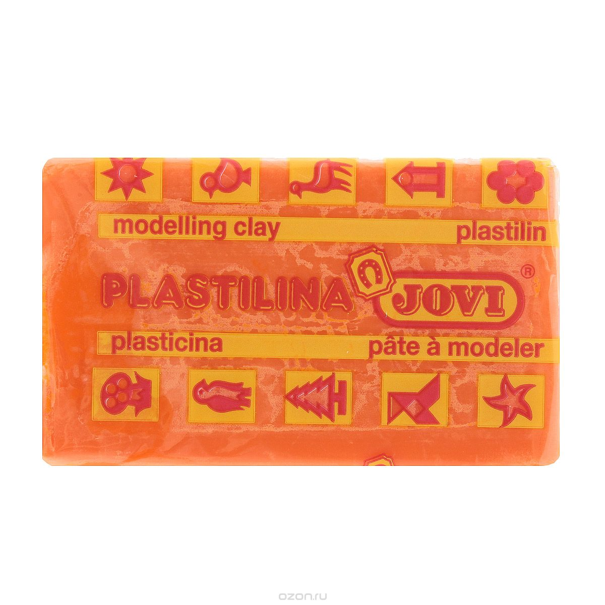 Jovi Пластилин, цвет: оранжевый, 50 г jovi набор мягкой пасты и аксессуаров для лепки огород
