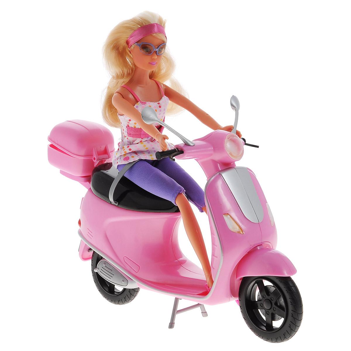 Simba Игровой набор с куклой Штеффи на скутере simba кукла штеффи pop art цвет одежды розовый желтый