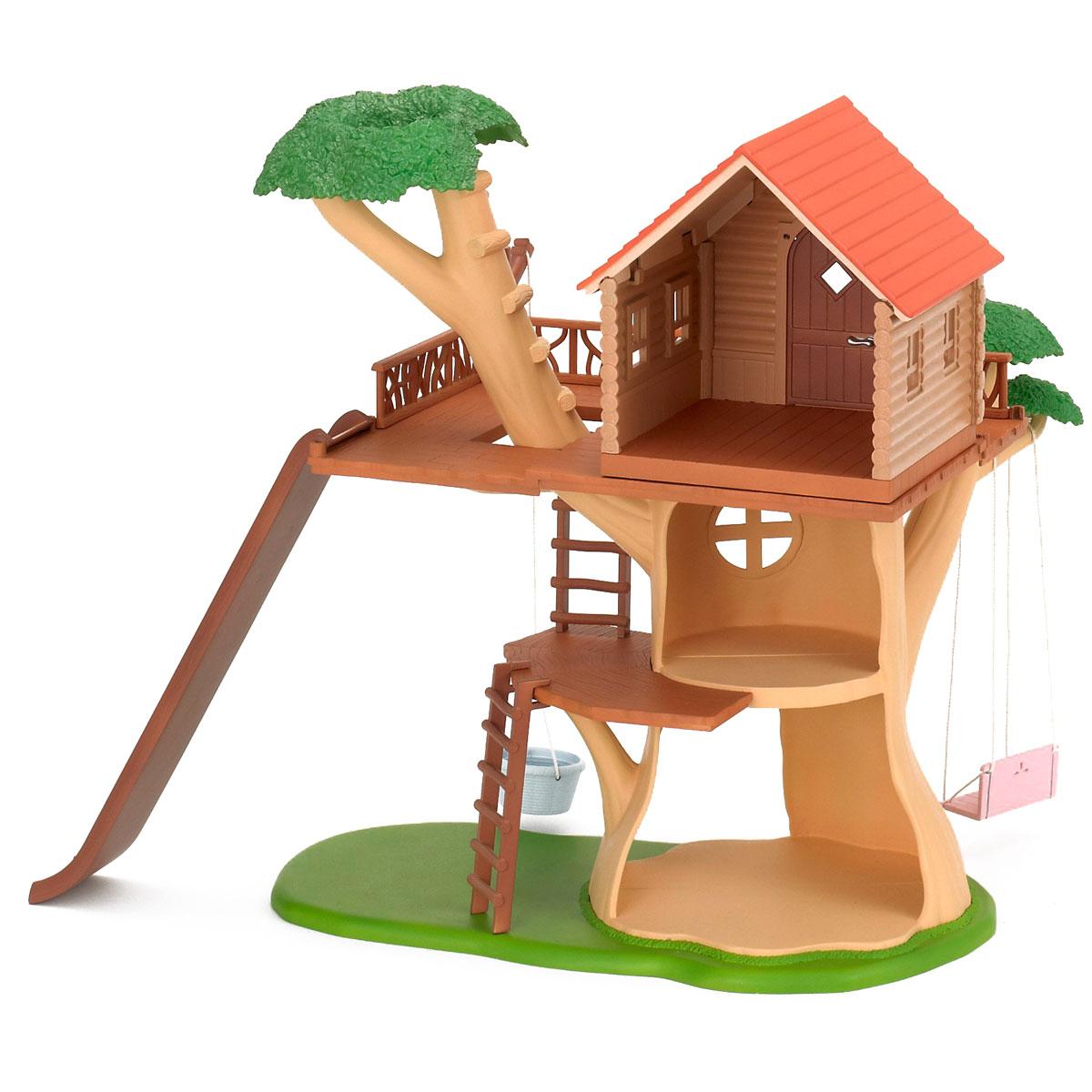 Sylvanian Families Игровой набор Дом-дерево набор холодильник с продуктами sylvanian families