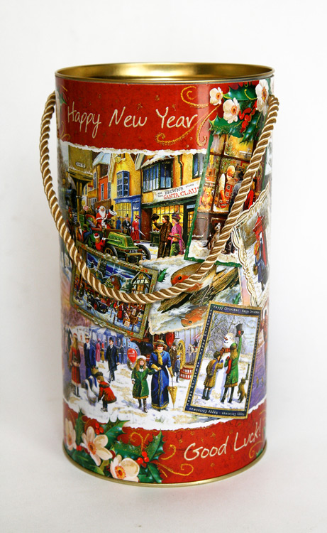 Тубус новогодний Ретро коллаж 12*22 см4610009210612