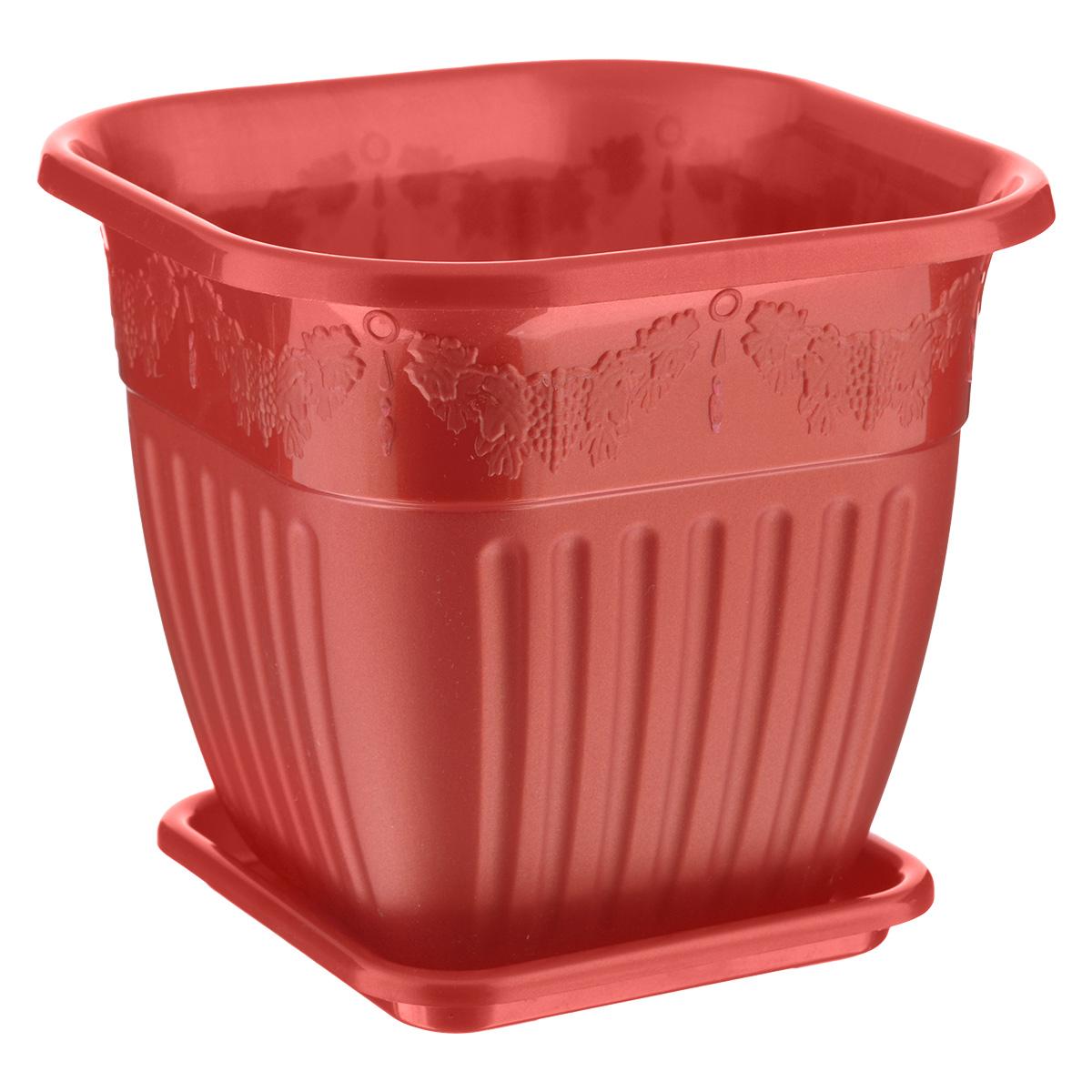 Горшок-кашпо Альтернатива Лозанна, с поддоном, 3 лМ1464тоГоршок-кашпо Альтернатива Лозанна изготовлен из высококачественного пластика и оформлен рельефом в виде виноградной лозы. Специальный поддон предназначен для стока воды. Изделие прекрасно подходит для выращивания растений и цветов в домашних условиях. Стильный дизайн сделает такое кашпо отличным дополнением интерьера.