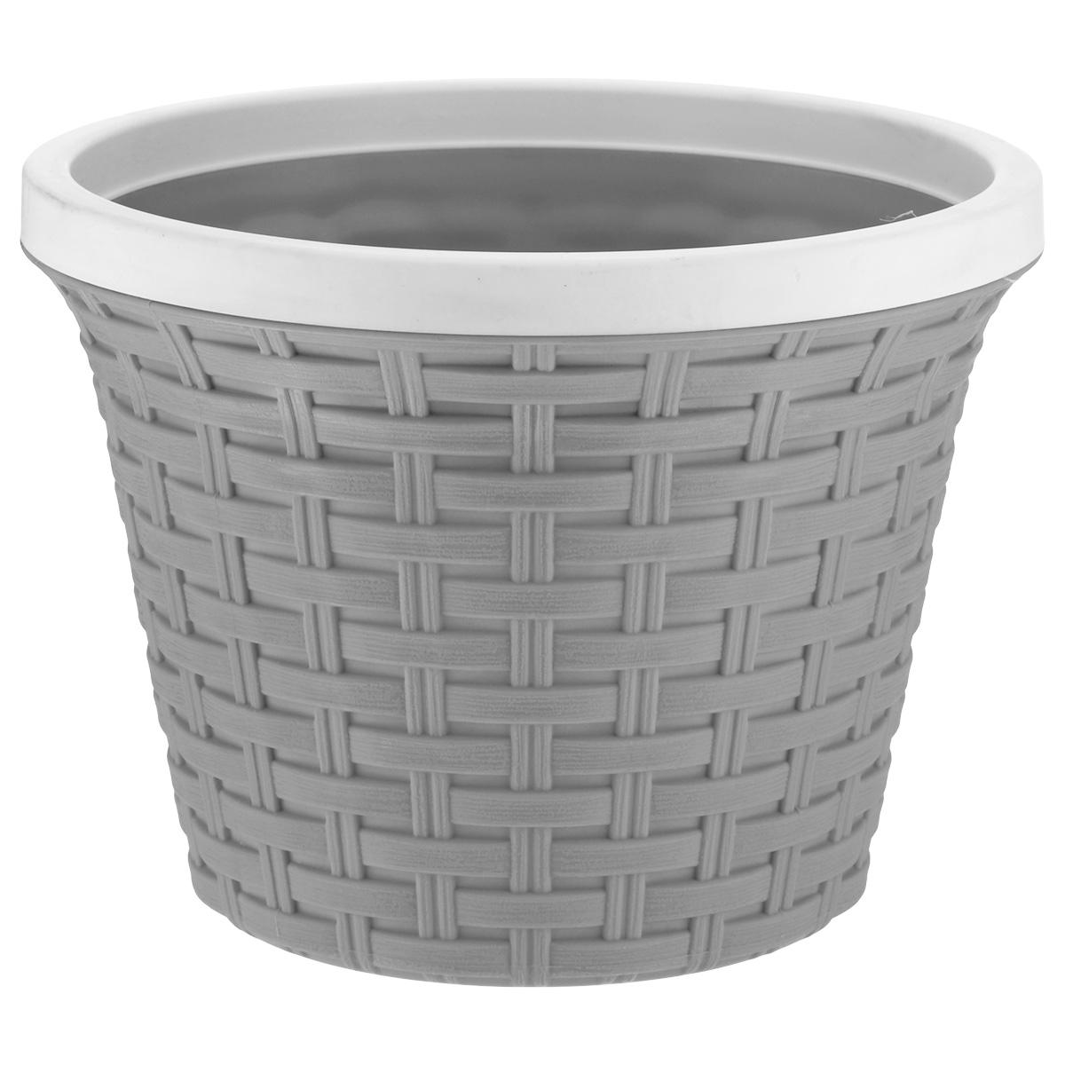 Кашпо круглое Violet Ротанг, с дренажной системой, цвет: серый, 3,4 л32340/8Круглое кашпо Violet Ротанг изготовлено из высококачественного пластика и оснащено дренажной системой для быстрого отведения избытка воды при поливе. Изделие прекрасно подходит для выращивания растений и цветов в домашних условиях. Лаконичный дизайн впишется в интерьер любого помещения.Объем: 3,4 л.