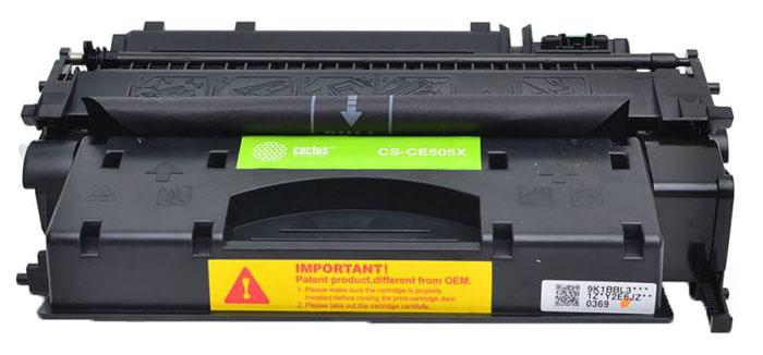 Cactus CS-CE505XS, Black тонер-картридж для HP LJ2055 картридж для принтера cactus cs ml182 black