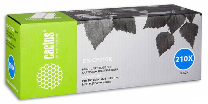 Cactus CS-CF210X, Black тонер-картридж для HP LaserJet Pro 200 M251/M276 тонер картридж cactus cs cf381a для hp laserjet pro m476dn m476nw m476dw голубой 2700стр