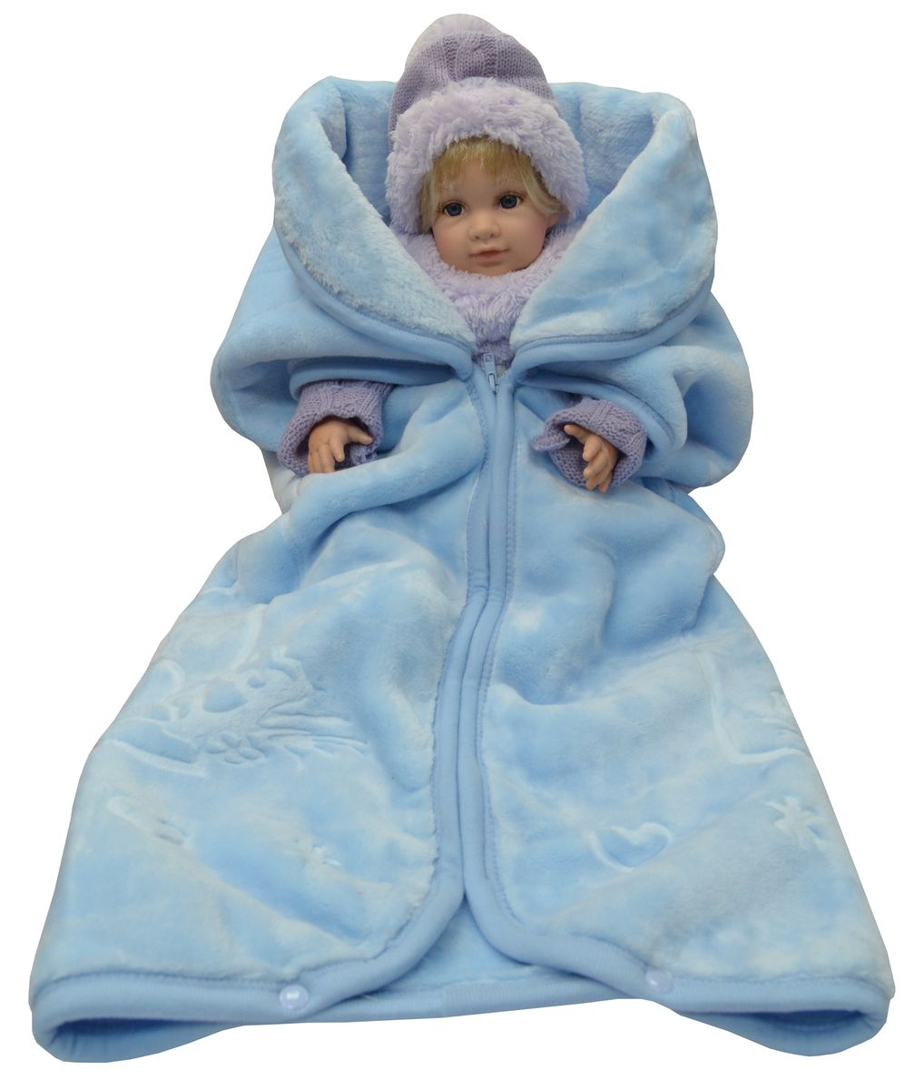 Bonne Fee Плед-накидка для младенцев на молнии, 80 х 90 см, цвет: голубойОНДК/200-голПлед-накидка для младенцев на молнии Bonne Fee - защита, тепло и комфорт для малышей - использован надёжный, качественный и мягкий материал! Удобство и спокойствие для родителей обеспечивается универсальностью пледа-накидки, конструкция которого позволяет ему легко превращаться в конвертик. Отличное качество и практичность! Любите своего ребёнка и дарите ему лучшее!