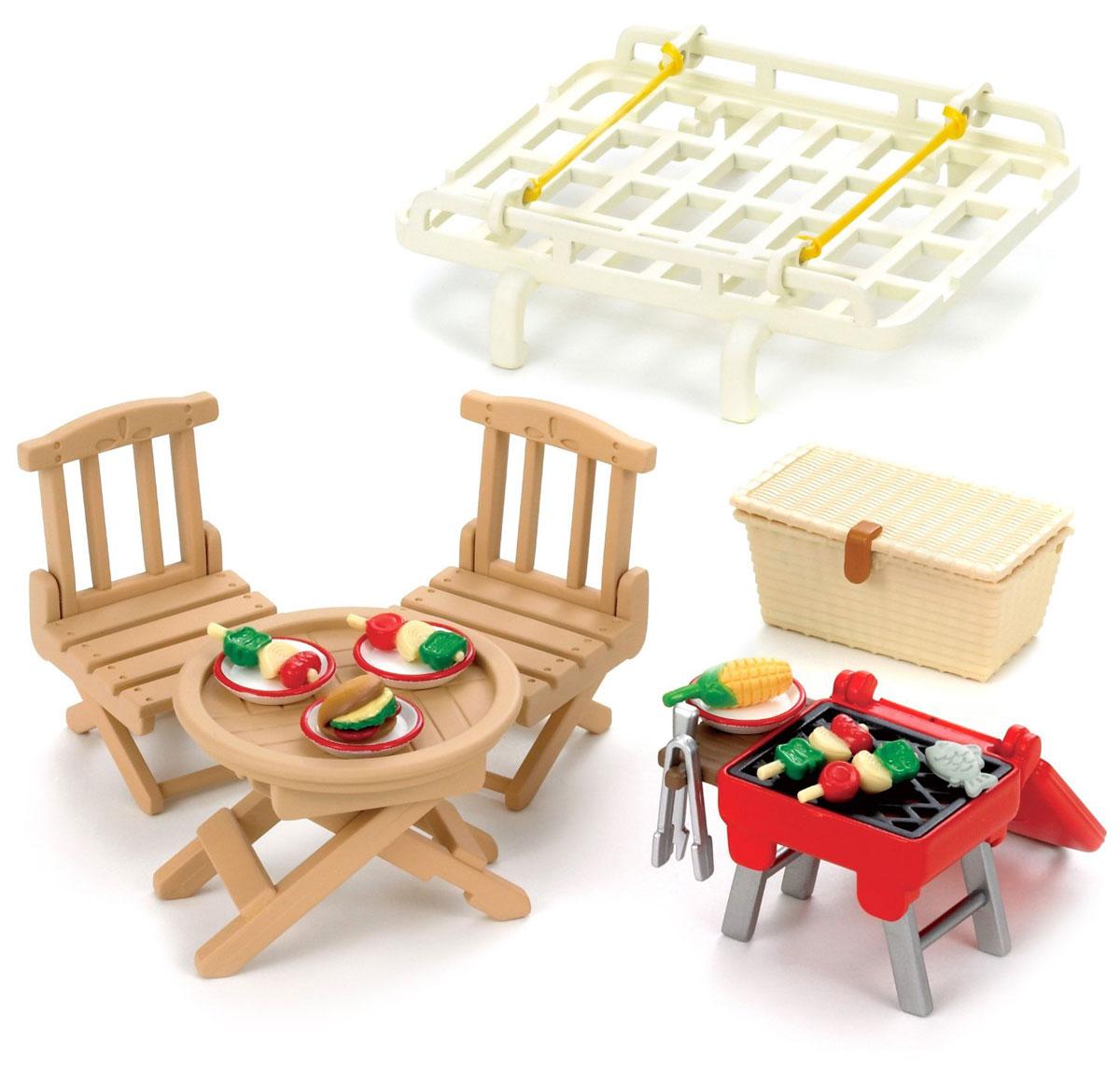 Sylvanian Families Игровой набор Семейный пикник с багажником для автомобиля набор семейный автомобиль красный sylvanian families