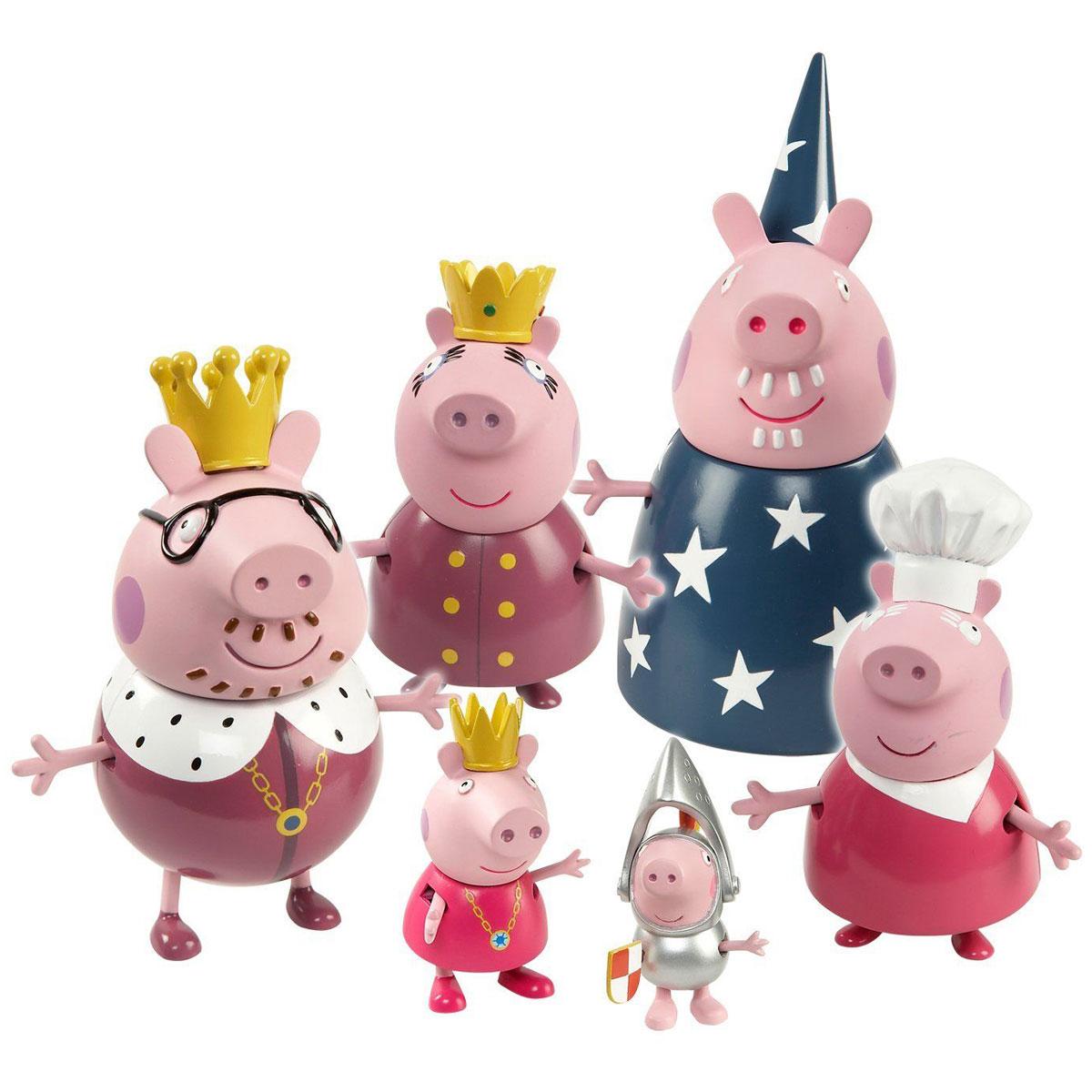 Peppa Pig Игровой набор Королевская семья Пеппы игровой набор peppa pig семья пеппы папа свин и джорж 2 предмета от 3 лет 20837
