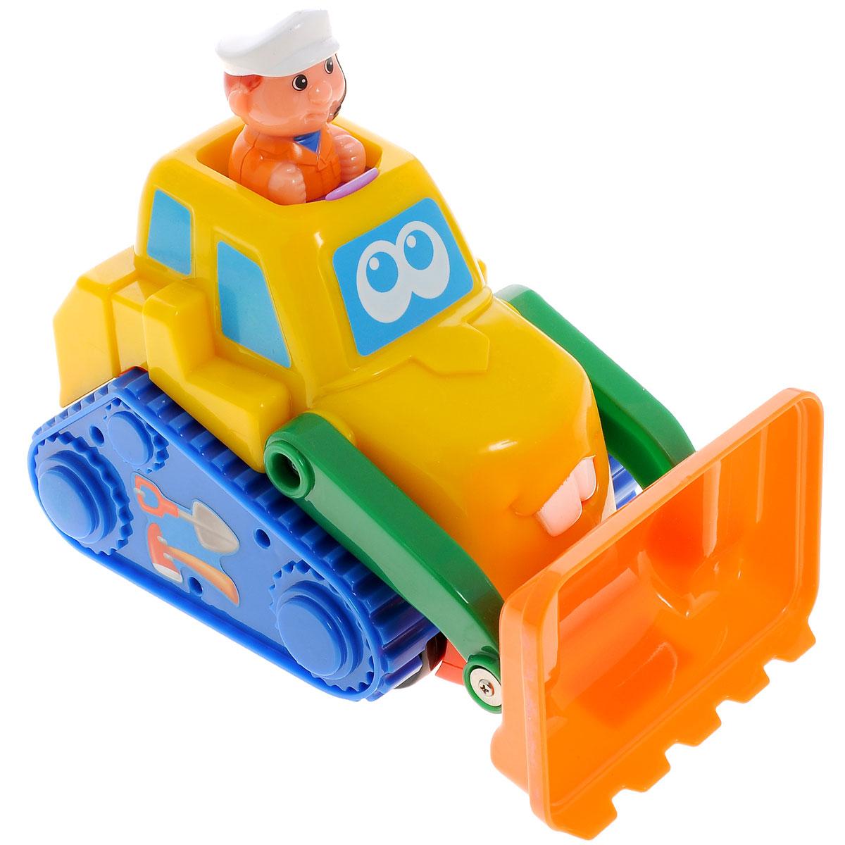 Kiddieland Развивающая игрушка Бульдозер машинки hti паровозик roadsterz синий с вагоном звуковыми и световыми эффектами