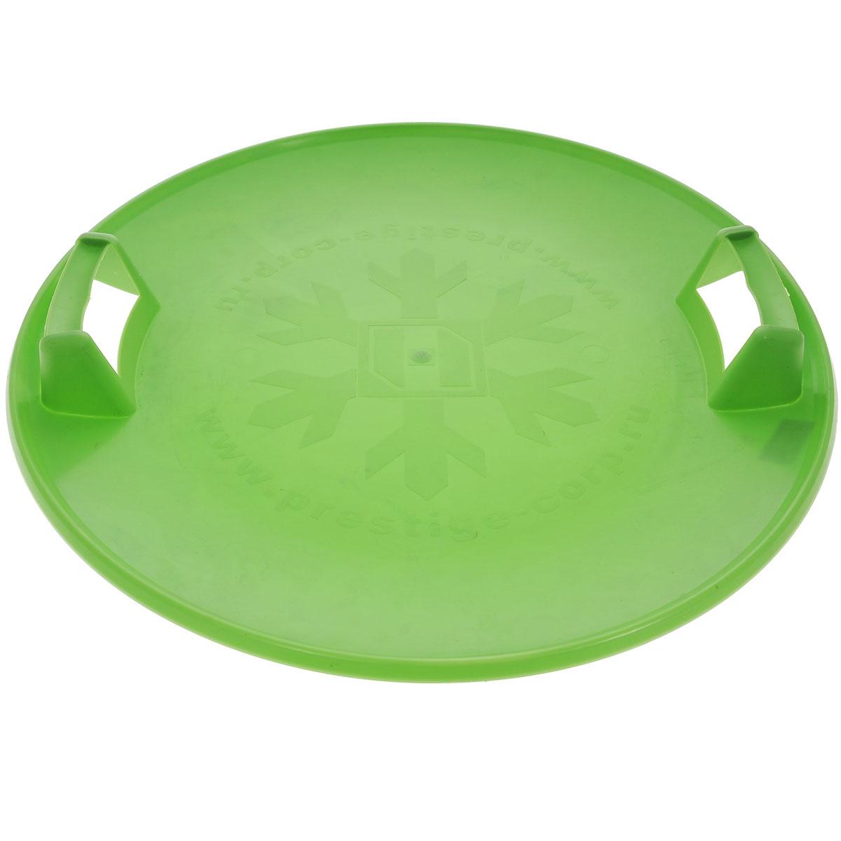 Санки-ледянки Престиж Экстрим, с пластиковыми ручками, цвет: зеленый, диаметр 58 см267111Санки-ледянки Престиж Экстрим подарят море позитивного настроения холодной зимой, ведь на них так весело съезжать с крутых ледяных склонов! Легкие, прочные санки из морозостойкого пластика прослужат долго. Санки имеют две пластиковые ручки для удобства катания и ношения. Дно санок украшено рельефным изображением снежинки. Диаметр санок: 58 см.Зимние игры на свежем воздухе. Статья OZON Гид
