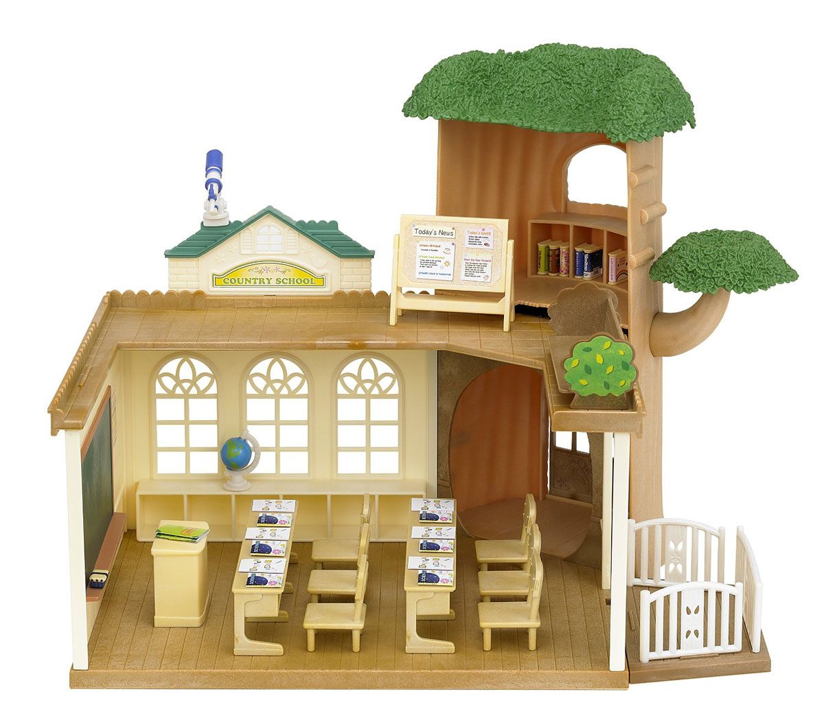 Sylvanian Families Игровой набор Лесная школа дерево дом sylvanian families