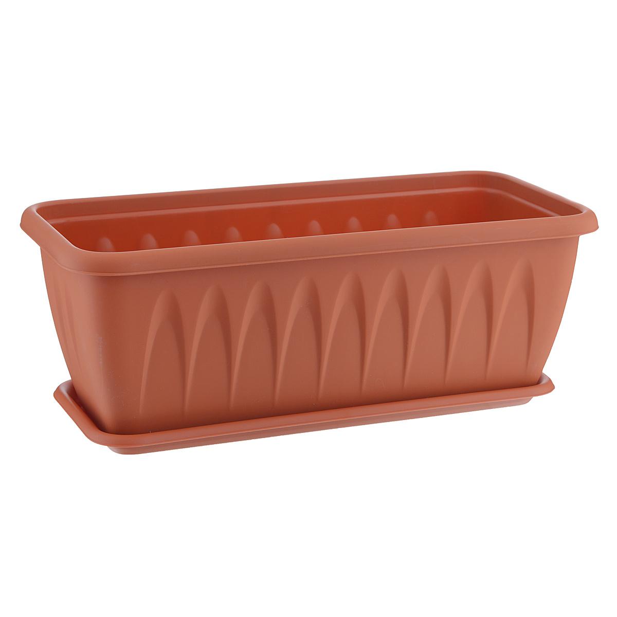 Балконный ящик Idea Алиция, с поддоном, 40 х 18 см13367Балконный ящик Idea Алиция изготовлен из прочного полипропилена (пластика). Снабжен поддоном для стока воды. Изделие прекрасно подходит для выращивания рассады, растений и цветов в домашних условиях.