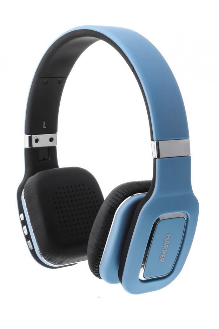 Harper HB-402, Blue наушникиH00000465Bluetooth Стерео Наушники с Микрофоном Складная конструкция Чистый звук с кабелем или без
