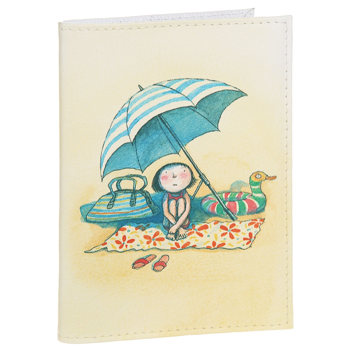 Обложка для автодокументов Девочка на пляже. AUTO316Натуральная кожаСтильная обложка для автодокументов Mitya Veselkov Девочка на пляже выполнена из натуральной кожи с зернистой текстурой. Обложка оформлена художественной печатью с изображением девочки. Внутри размещен пластиковый вкладыш с шестью карманами для документов, среди которых карман формата А5.Стильная обложка для автодокументовMitya Veselkov Девочка на пляже не только поможет сохранить внешний вид ваших документов и защитит их от повреждений, но и станет стильным аксессуаром, идеально подходящим к вашему образу.