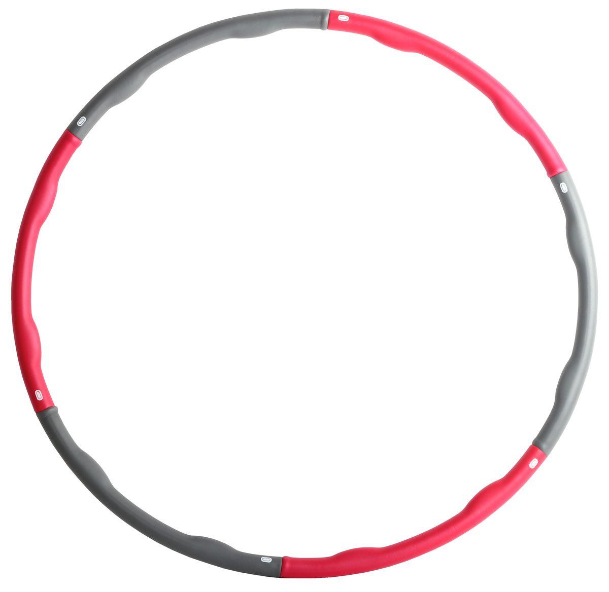 Обруч массажный Alonsa HP-81301, цвет: серый, фуксия мяч массажный alonsa цвет серебристый 20 см