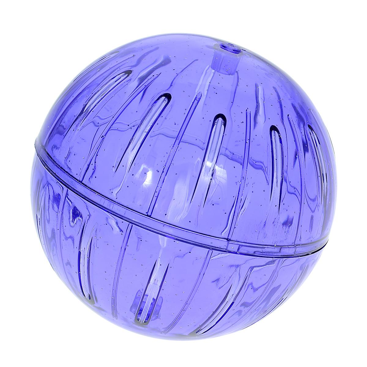 Игрушка для грызунов I.P.T.S. Шар прогулочный, цвет: синий, диаметр 12 см805634_синийИгрушка для грызунов I.P.T.S. Шар прогулочный изготовлена из нетоксичного высококачественного пластика. Шар легко моется. Устойчивая конструкция с двумя защелкивающимися половинками обеспечит безопасность и предохранит вашего питомца от побега. Большие вентиляционные отверстия обеспечивают хорошую циркуляцию воздуха, а специально разработанные выступы для лап - удобство при передвижении. Прогулка в таком шаре обеспечит грызуну нагрузку, а значит, поможет поддержать хорошую физическую форму.Чтобы правильно подобрать шар, следует измерить длину животного: диаметр шара должен быть чуть больше, чем длина вашего питомца.Диаметр шара: 12 см.