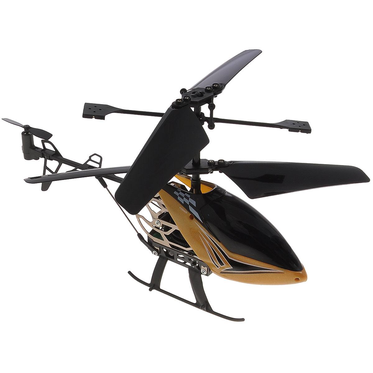 Silverlit Вертолет на радиоуправлении Sky Dragon цвет золотистый самолеты и вертолеты silverlit вертолет 3 х канальный heli sniper 2 со стрелами зеленый