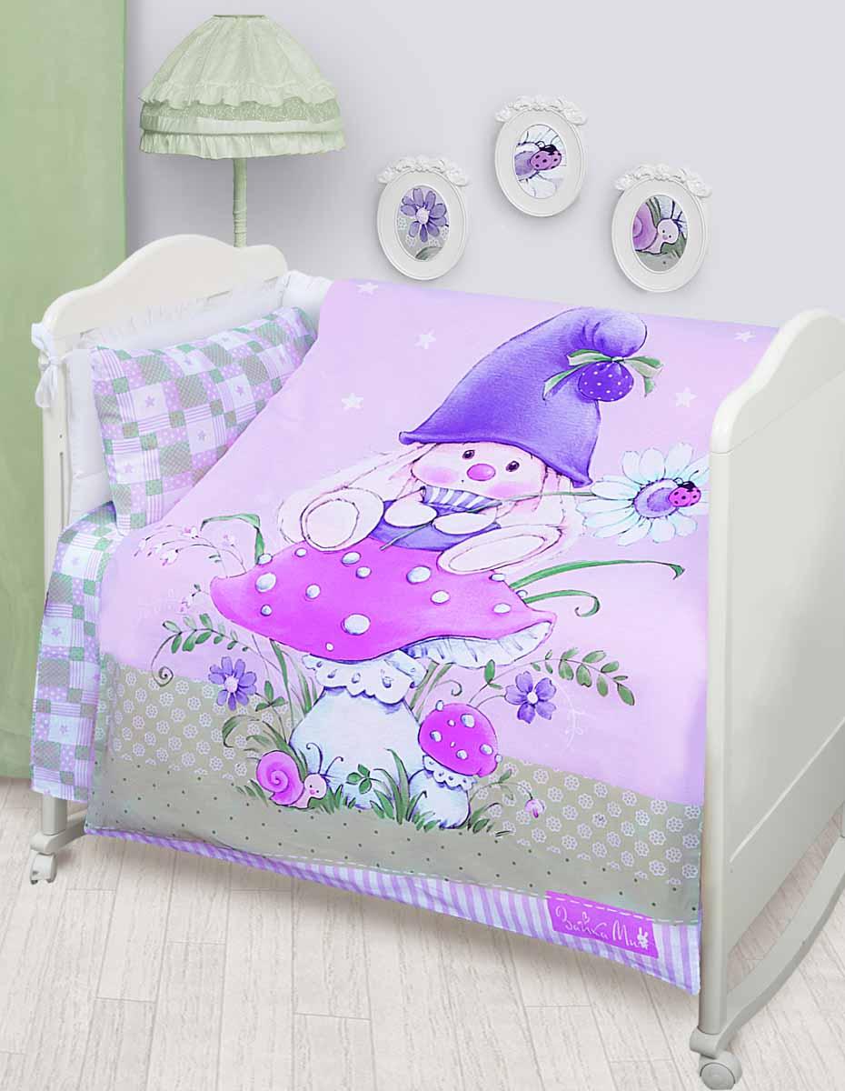 Детское постельное белье Mona Liza Зайка-гномик (КПБ, хлопок, наволочка 40х60)521820Детское постельное белье Mona Liza Зайка-гномик прекрасно подойдет для вашего малыша. Текстиль произведен из 100% хлопка. При нанесении рисунка используются безопасные натуральные красители, не вызывающие аллергии. Гладкая структура делает ткань приятной на ощупь, она прочная и хорошо сохраняет форму, мало мнется и устойчива к частым стиркам. Комплект состоит из наволочки, простыни и пододеяльника. Яркий рисунок непременно понравится вашему ребенку.Размер пододеяльника: 110 см х 145 см.Размер простыни: 100 см х 145 см.