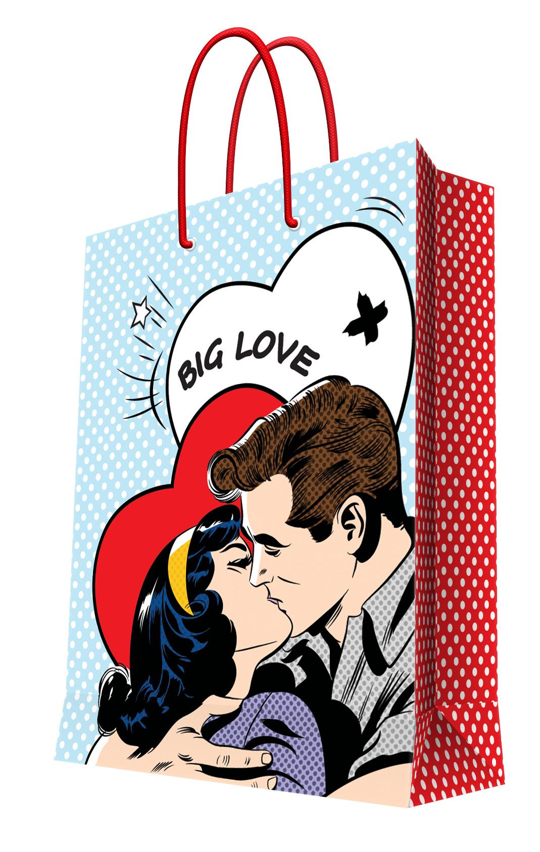 Пакет подарочный Феникс-Презент О любви, 32 х 26 х 13 см набор подарочный феникс презент 40683