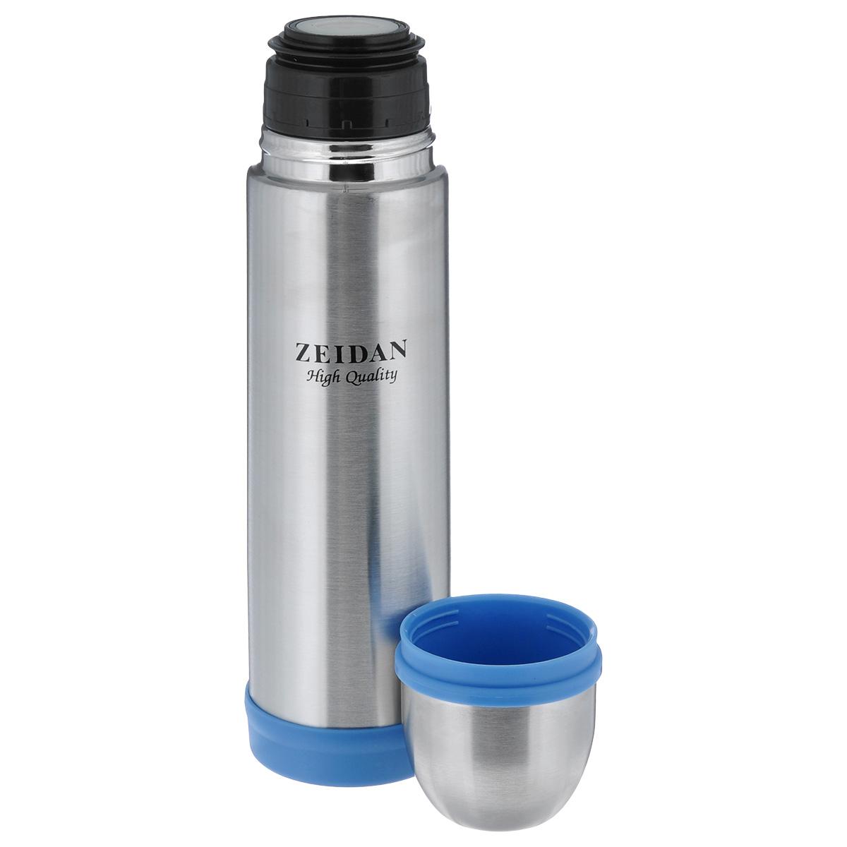 """Термос с узким горлом """"Zeidan"""", изготовленный из высококачественной нержавеющей стали, является простым в использовании, экономичным и многофункциональным. Термос с двухстеночной вакуумной изоляцией предназначен для хранения горячих и холодных напитков (чая, кофе). Изделие укомплектовано пробкой с кнопкой. Такая пробка удобна в использовании и позволяет, не отвинчивая ее, наливать напитки после простого нажатия. Изделие также оснащено крышкой-чашкой. Легкий и прочный термос """"Zeidan"""" сохранит ваши напитки горячими или холодными надолго.Высота (с учетом крышки): 26,5 см.Диаметр горлышка: 4,5 см."""